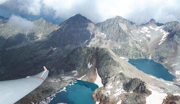 Vuelo sobre el Pirineo